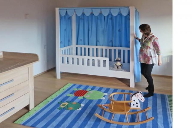 mitwachsendes Kinderbett LISTO-flex für den Sohn
