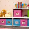 Spielzeugregal KINTObox mit farbigen Stoffboxen / SALTO Kindermöbel, München