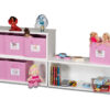 Spielzeugregal KINTObox 3er Kombi, mit rosa Stoffboxen / SALTO Kindermöbel, München