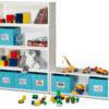 Spielzeugregal KINTObox 5er Kombi, mit blauen Stoffboxen / SALTO Kindermöbel, München