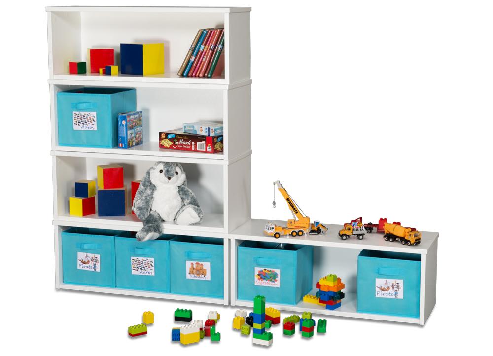 Spielzeugregal Kintobox Weiß Lackiertes Holz Kinderzimmer 24de
