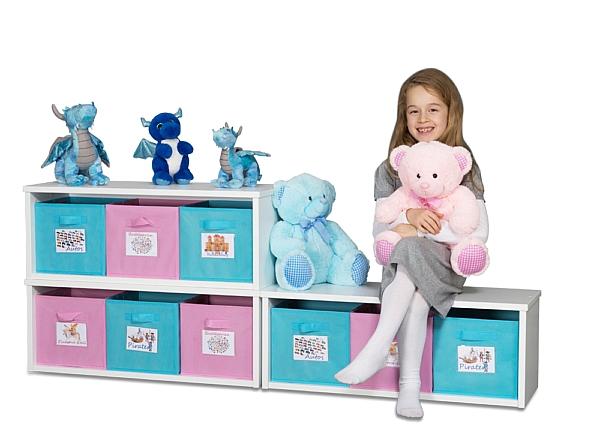 Spielzeugregal KINTObox mit bunten Stoffboxen / SALTO Kindermöbel, München
