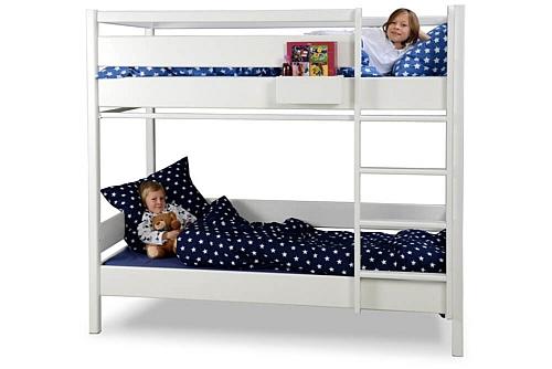 weiß lackiertes Etagenbett KINTO aus Holz