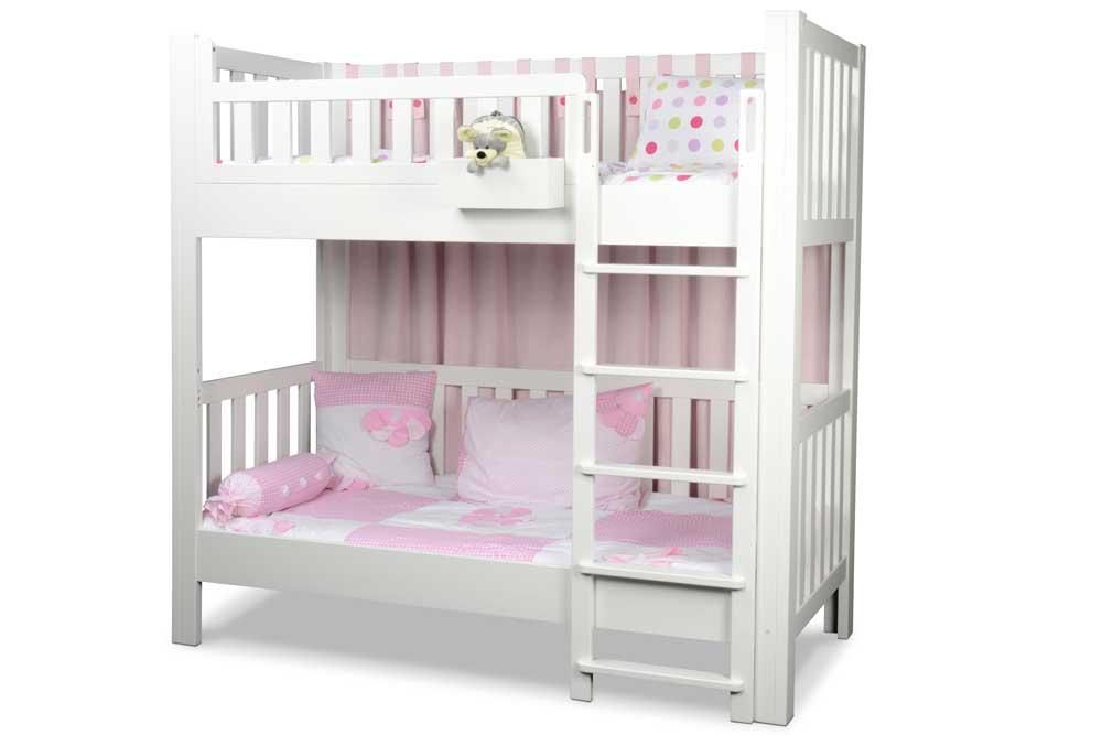wei lackiertes etagenbett listo aus buchenholzvon kiinderzimmer. Black Bedroom Furniture Sets. Home Design Ideas
