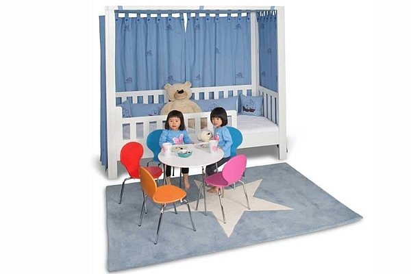 mitwachsendes Kinderbett ListoFlex, weiss lackiert