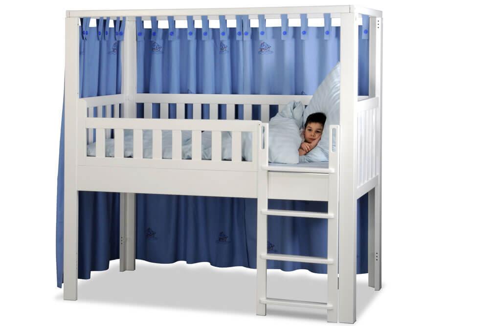 Kinderbett LISTO-flex, Spielbett aus weiss lackiertes Buchenholz