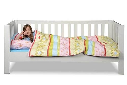 Kinderbett LISTO, weiss lackiertes Buchenholz