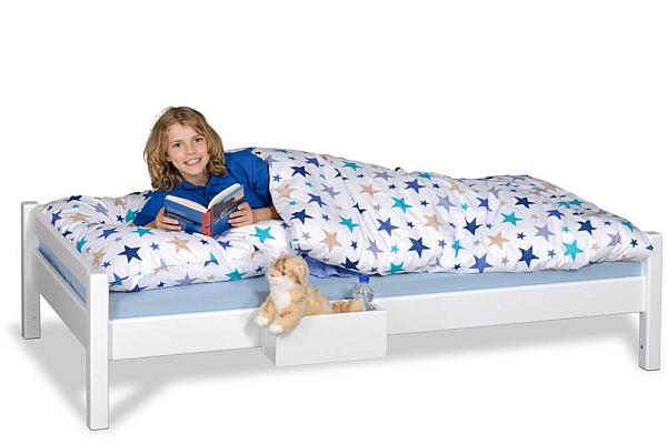 Kinderbett PICCO 180cm weiß