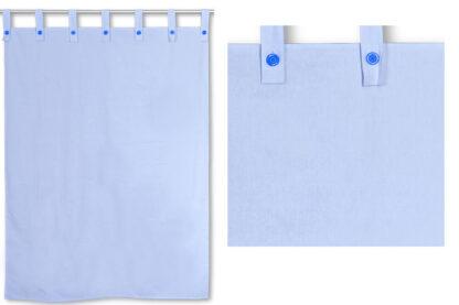 Kinderbett-Vorhang LISTO blau