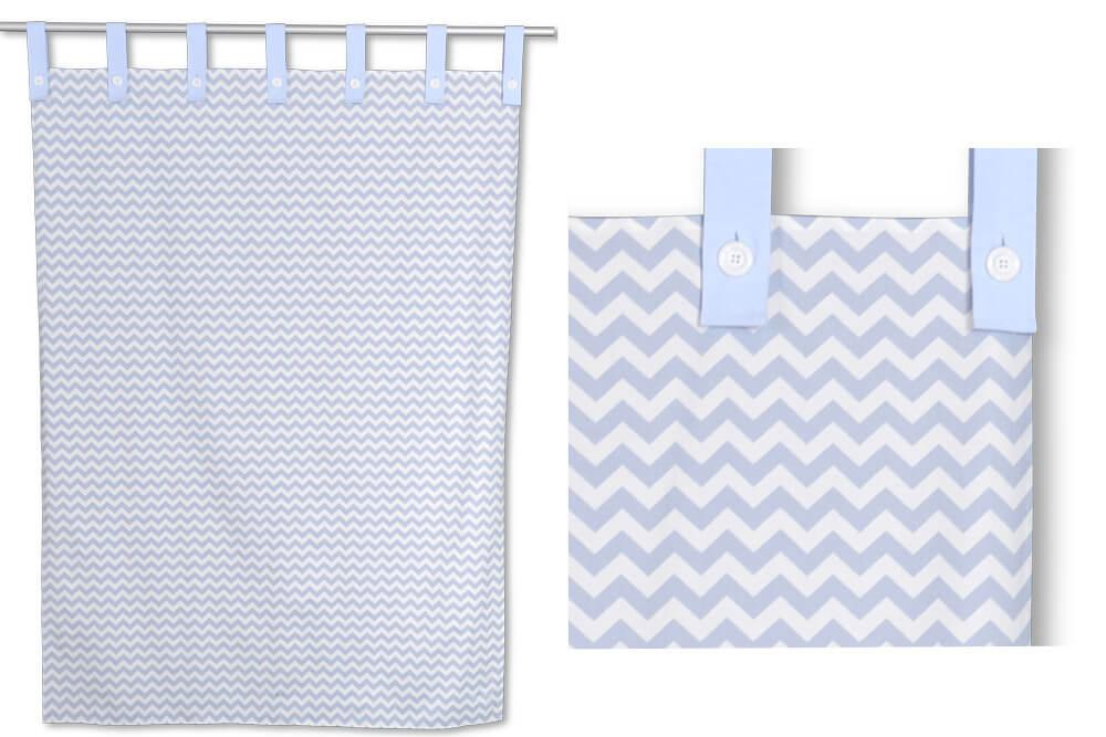 der vorhang listo chevron-blau für kinderbetten - kinderzimmer-24.de - Vorhange Kinderzimmer Blau