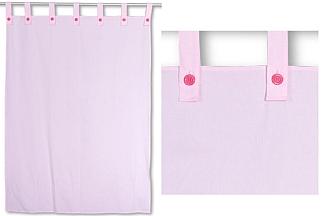 Kinderbett-Vorhang LISTO rosa