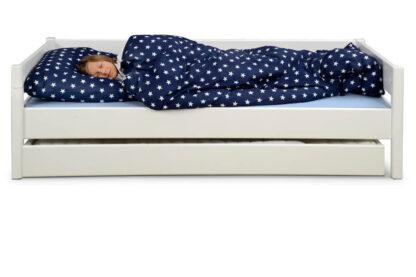 weiß lackiertes Kinderbett KINTO mit Gästebett