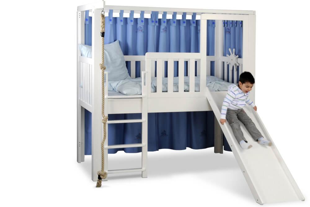 LISTO-slide, das mitwachsende Kinderbett mit Rutsche