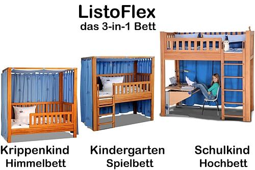 das mitwachsende Kinderbett LISTO-flex