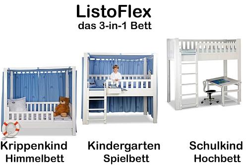 mitwachsendes Kinderbett LISTO-flex / SALTO Kindermöbel München