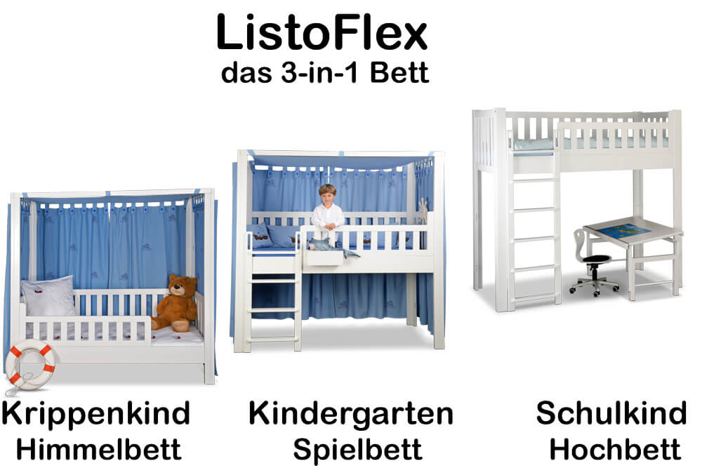 mitwachsendes Kinderbett LISTO-flex