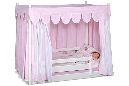 Himmelbett kinder  Kinderbett PICCO 180cm weiß: aus dem Himmelbett wird ein Hochbett