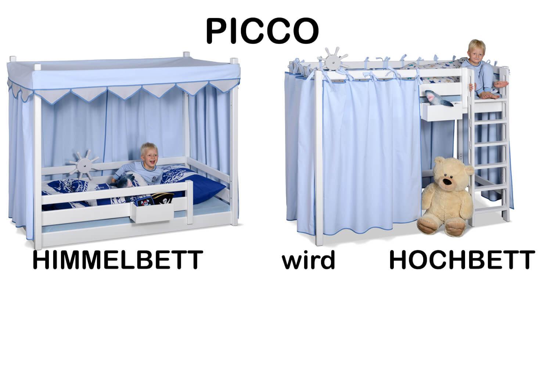weisses-himmelbett-wird hochbett-blau-kinderbett-PICCO