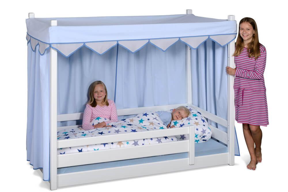 kinderbett picco 180cm wei aus dem himmelbett wird ein. Black Bedroom Furniture Sets. Home Design Ideas