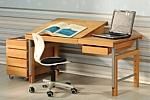 ZIGGY comfort, der Massivholz-Schreibtisch für Kinder
