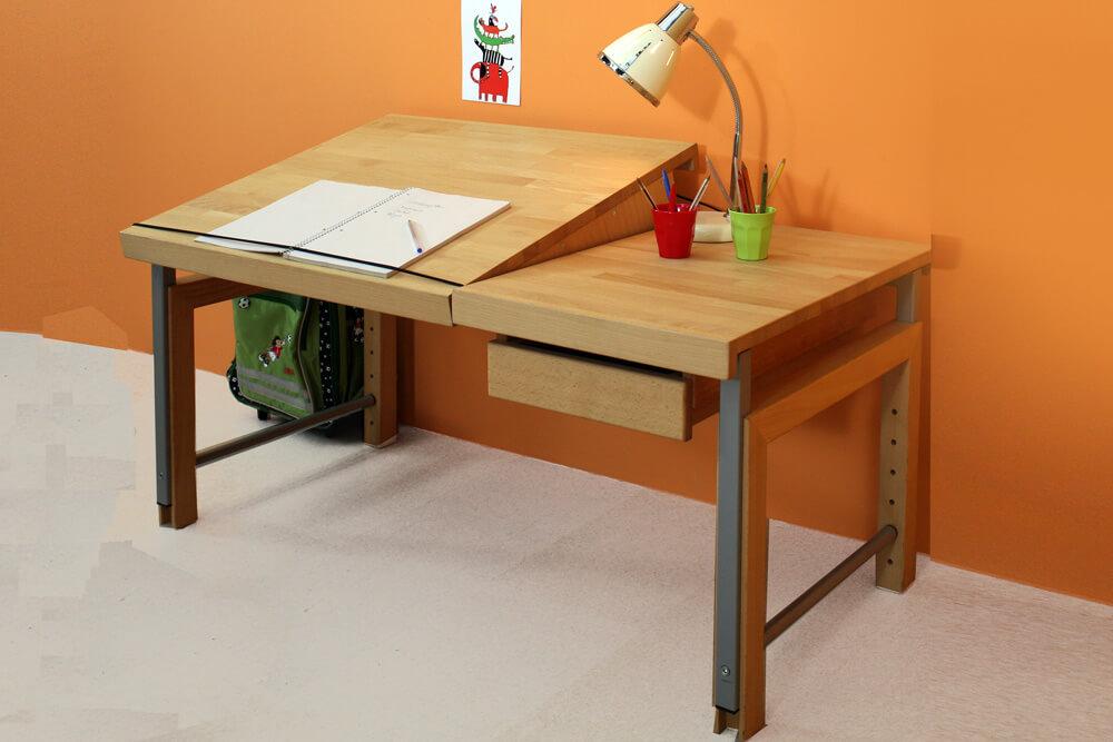 Ziggy der massivholz schreibtisch f r kinder for Schreibtisch untergestell