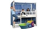 mitwachsendes Kinderbett LISTO-flex, Spielbett aus weiss lackiertes Buchenholz