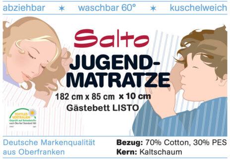 Kinderbett-Matratze LISTO für das Gästebett