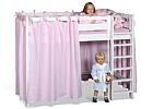 Hochbett PICCO 180cm, das mitwachsende Kinderbett aus weiß lackiertem Buchenholz.