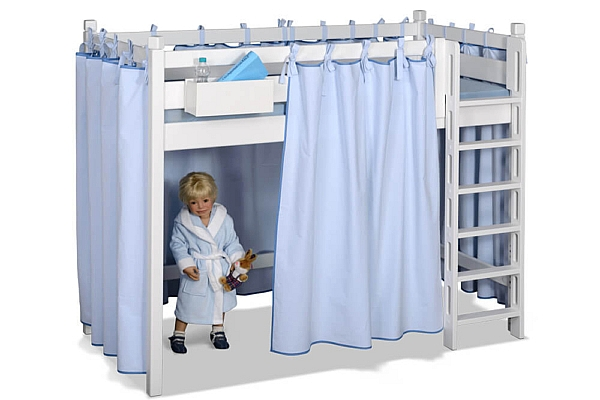 kinderbett picco 180cm wei aus dem himmelbett wird ein hochbett. Black Bedroom Furniture Sets. Home Design Ideas