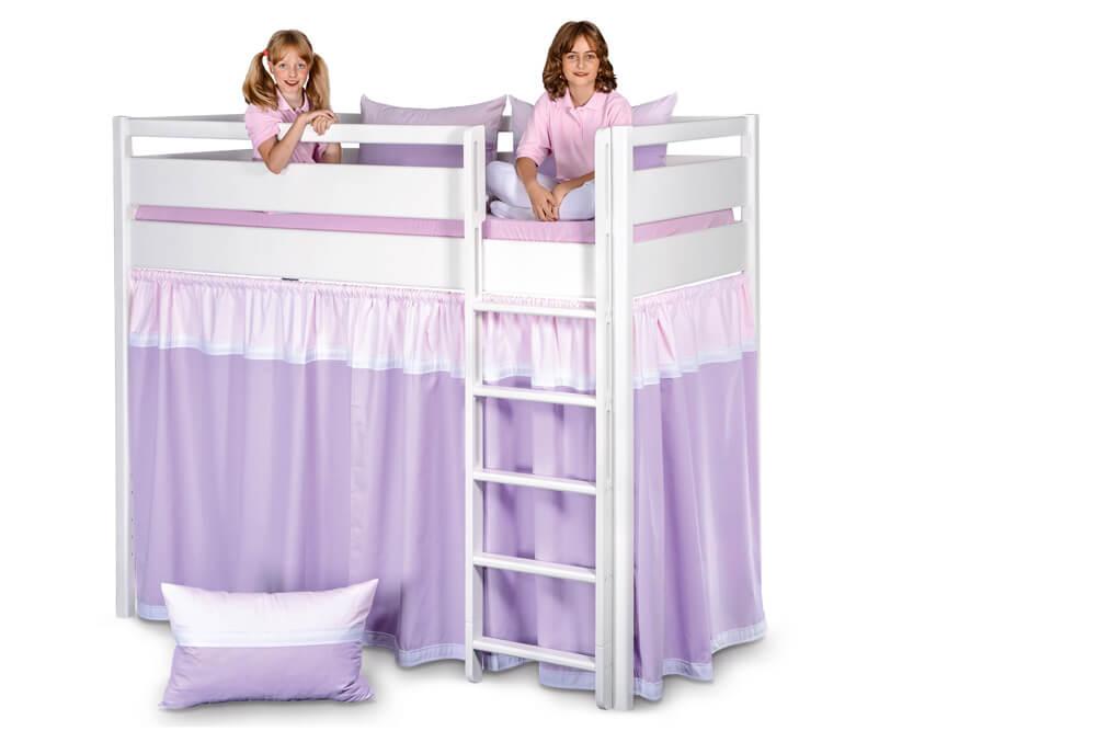 Vorhangset Kinto Farbe Malve Flieder Kinderzimmer 24 De