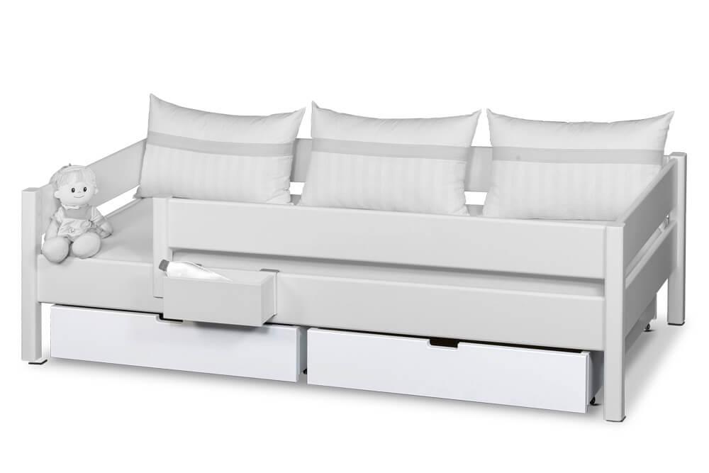 Bettschublade weiß lackiert