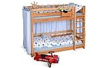 Kinderbett Etagenbett PICCO 180cm aus massivem Buchenholz