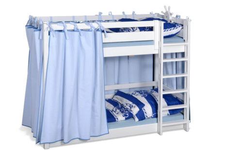 Kinderbett Etagenbett PICCO 180cm, weiß lackiert, aus massivem Buchenholz