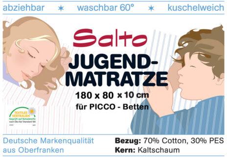 Kinderbett-Matratze PICCO 180cm x 80cm Kaltschaum