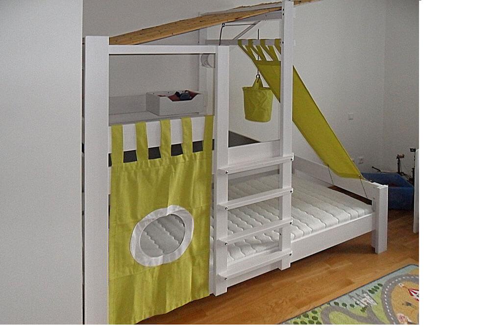 brunos baumhausbett aus massivem buchenholz ist das beliebte spielbett. Black Bedroom Furniture Sets. Home Design Ideas