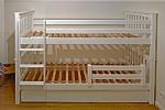 Etagenbett DRACO aus weiss lackiertem Buchenholz / SALTO Kinderbetten München
