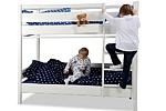 Etagenbett KINTO aus weiß lackiertem Holz. Hersteller: SALTO Kindermöbel in München. Online kaufen bei:www.kinderzimmer-24.de