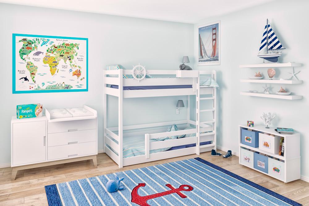 mitwachsendes Etagenbett PICCO Montessori / SALTO Kinderbetten München