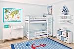 Etagenbett PICCO 180cm aus weiß lackiertem Buchenholz / SALTO Kindermöbel München