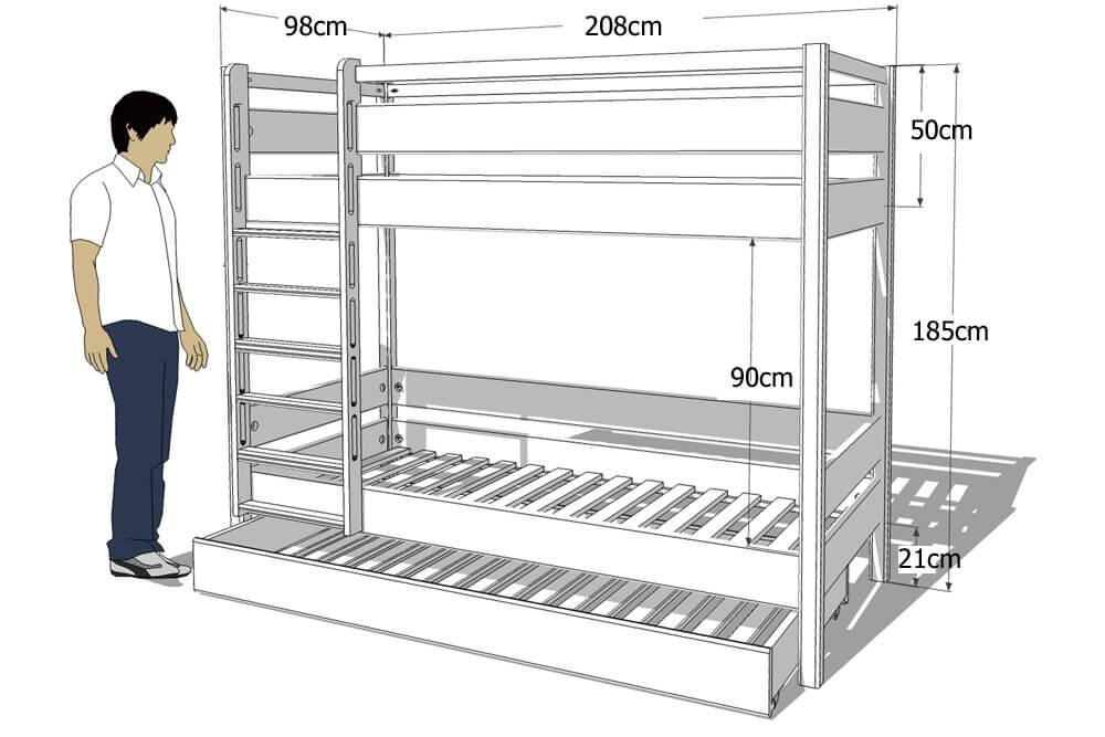 das wei lackierte etagenbett kinto mit g stebett kinderzimmer. Black Bedroom Furniture Sets. Home Design Ideas