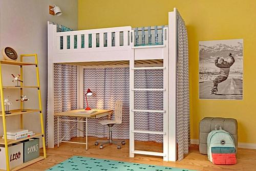 Kinderbett LISTOflex, aufgebaut als Spielbett / SALTO Kinderbetten in München
