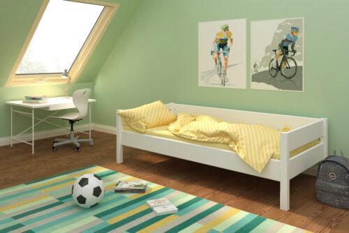 weiß lackiertes Kinderbett aus Holz: KINTO basic / Kindermöbel SALTO / München