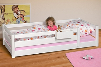 Kinderbett PICCO 200cm weiß: das Montessori-Kinderbett, aus Buchenholz. Kinderbetten SALTO in München
