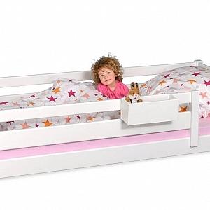Kinderbett PICCO 180cm weiß: das kleinere Kinderbett, aus Buchenholz
