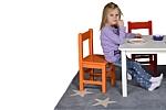 Kindertisch KINTO 60x60 aus weiß lackiertem Holz