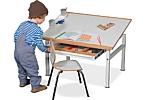 Kinderschreibtisch KUBIKO-90 / SALTO Möbel für Kinder / München
