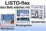 KinderbettLISTOflex - umbaubar und mitwachsend / SALTO Kinderbetten München