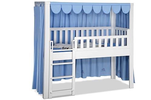 Hochbett Vorhang LISTO blau Stickerei / Kinderbetten SALTO München