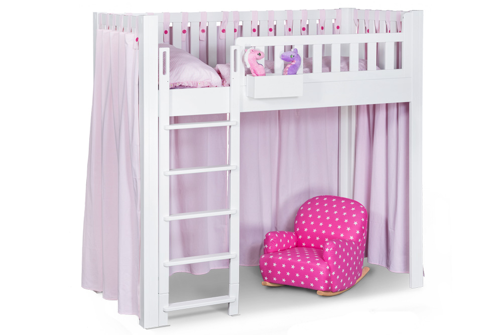 der vorhang listo rosa f r kinderbetten listoflex. Black Bedroom Furniture Sets. Home Design Ideas