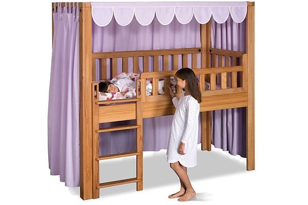 mitwachsendes Kinderbett LISTO-flex aus geöltem Buchenholz:  Spielbett-Höhe / Hersteller: SALTO Kindermöbel München